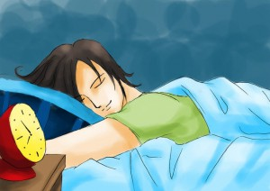 Uma boa noite de sono é fundamental.