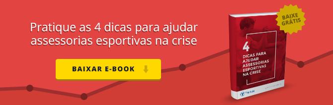 Banner de CTA de Ebook para asserias esportivas na crise